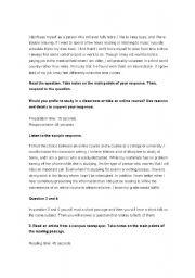 English Worksheets: EXAMPLE TOEFL EXAM