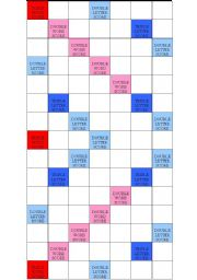 English Worksheets: Scrabble board