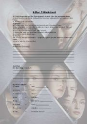 English worksheet: X-Men 2
