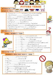English Worksheet: FUTURE TENSE