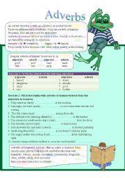 English Worksheets: Adverbs (part 1)