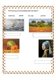 English Worksheets: paintings