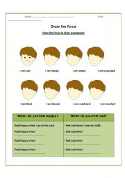 English Worksheets: Draw the Face