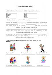 English Worksheets: Consolidation work