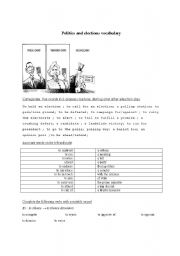 English Worksheet: politics and elections