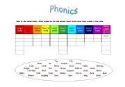 English Worksheet: PHONICS - Long & Short Vowels