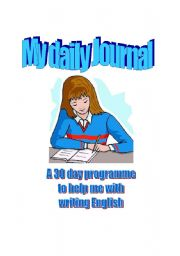 English Worksheets: My daily journal