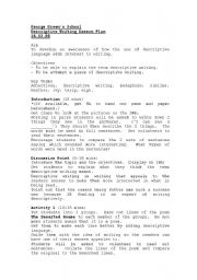 English Worksheet: Descriptive writing lesson