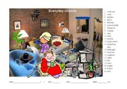 Hidden Object Game for learning vocabulary about everyday objects