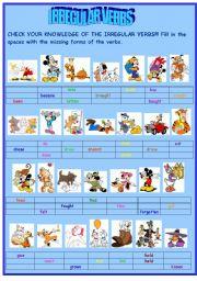 English Worksheets: Irregular verbs (PART I)