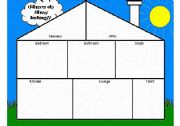 English Worksheet: Part 1 of 2 - Where does it belong? Furniture and Household items