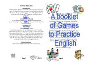 English Worksheet: A booklet of Games to Practice English