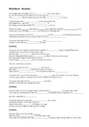 English Worksheet: Nickelback - Rock Star