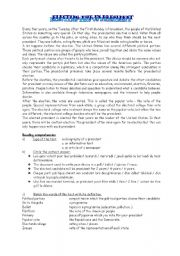 English Worksheets: presidential election