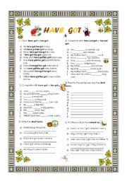 English Worksheet: Have got