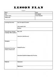 formal lesson plan template koni polycode co