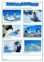 English Worksheets: Happy Feet - Movie Activity