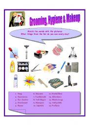 Worksheets Personal Grooming Worksheets english worksheet grooming and makeup