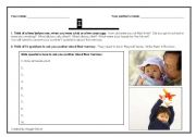 English Worksheets: I remember ...
