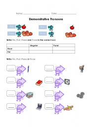 demonstrative pronouns esl worksheet by frosty. Black Bedroom Furniture Sets. Home Design Ideas
