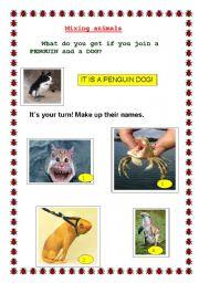 English Worksheets: MIXING ANIMALS