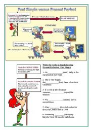 English Worksheet: Present perfect versus past simple