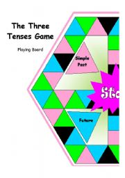 English Worksheet: The Three Simple Tenses Game! PART 1 of 4