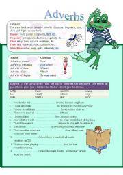 English Worksheets: Adverbs (part 2)