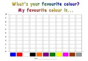English Worksheet: Class Survey: What�s your favourite colour?