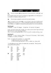 English Worksheets: K and G sounds