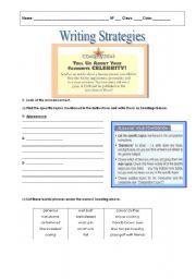English Worksheets: Writing strategies