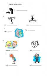 English worksheet: Adjectives Worksheet