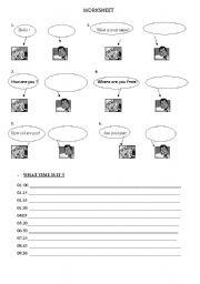 English worksheet: Illusturated Everyday Conversation