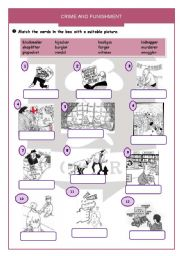 English Worksheets: Crime and punishment