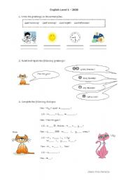 English Worksheets: Greetings!