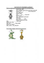 English Worksheets: HAVE/ HAS GOT (describing animals)