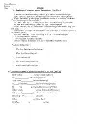 An exam  for intermediate level