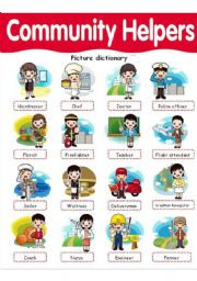 Community Helpers picture dictionary