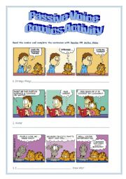 English Worksheet: Passive Voice - Comics Activity