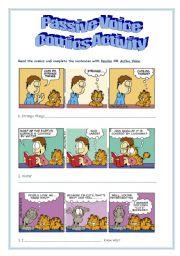 English Worksheets: Passive Voice - Comics Activity