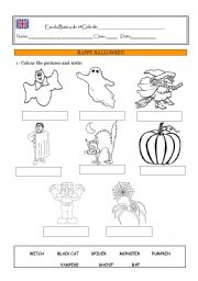 Halloween- colour and write