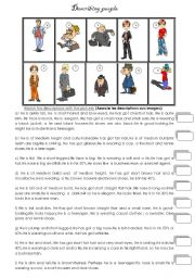 English worksheet: Physical description