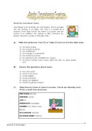 English Worksheets: Reading Comprehension Exercises