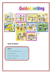 English Worksheets: Writing N� 1