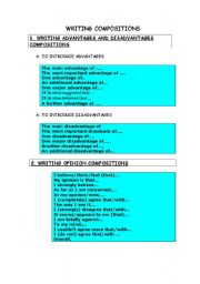 English Worksheet: WRITING COMPOSITIONS
