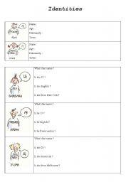 English Worksheets: Identities