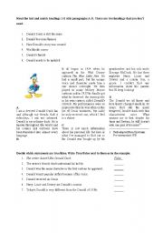 English Worksheets: Donald Duck - reading comprehension