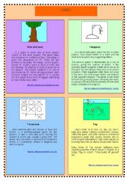English Worksheet: READING/SPEAKING/WRITING - GAMES