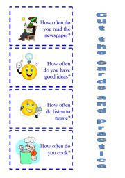 English Worksheets: SPEAKING ACTIVITY How often do you ...? 1/2