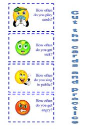 English Worksheet: SPEAKING ACTIVITY How often do you ...? 2/2
